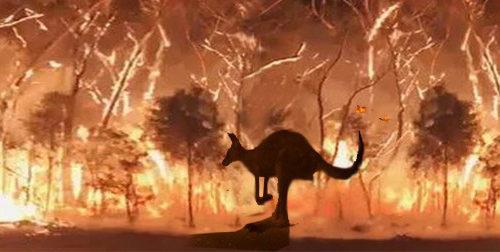 В Австралии пожар во время наводнения – масоны оказывают помощь